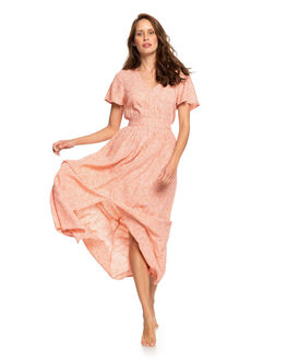 TERRA COTTA CHAOS WOMENS CLOTHING ROXY DRESSES - ERJWD03424-MJN5
