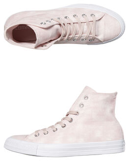 PALE CORAL WOMENS FOOTWEAR CONVERSE HI TOPS - SS159652CORW