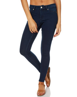 SOLID BLUE WOMENS CLOTHING CHEAP MONDAY JEANS - 0453350SOL