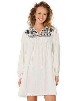 WHITE BLACK WOMENS CLOTHING SAINT HELENA DRESSES - SHS192132WHTBL