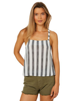 BLACK WOMENS CLOTHING RUSTY FASHION TOPS - WSL0591-BLK