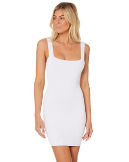 WHITE WOMENS CLOTHING LULU AND ROSE DRESSES - LU23628WHT