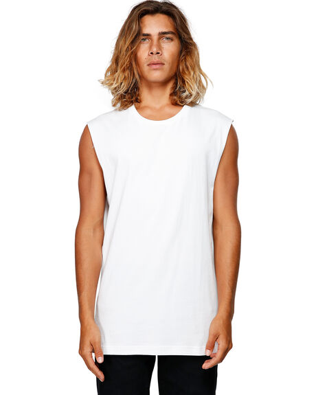 WHITE MENS CLOTHING BILLABONG SINGLETS - BB-9582506-WHT