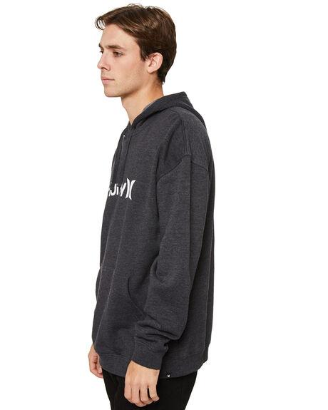 BLACK HEATHER MENS CLOTHING HURLEY HOODIES + SWEATS - HAMFL1000H032