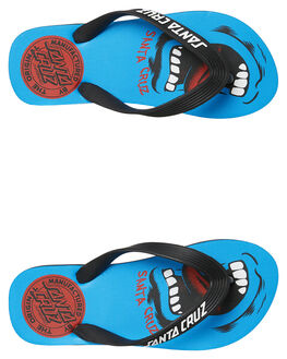 BLUE KIDS BOYS SANTA CRUZ THONGS - SC-YYD9302BLU