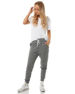 BLACK STRIPE WOMENS CLOTHING SWELL PANTS - S8182194BKSTP