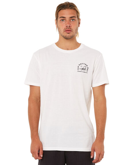 WHITE MENS CLOTHING RHYTHM TEES - JAN18M-PT06WHT