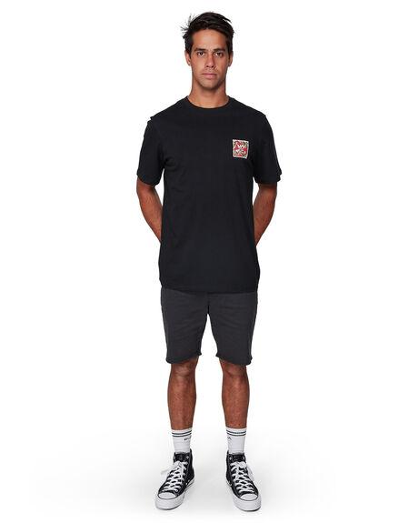 BLACK RED MENS CLOTHING RVCA TEES - RV-R182062-AEE
