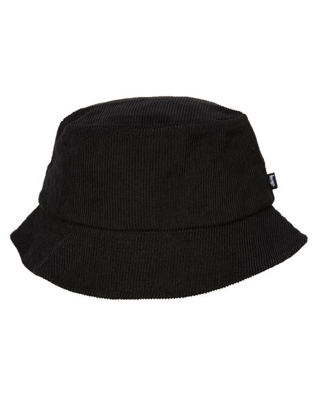 BLACK MENS ACCESSORIES STUSSY HEADWEAR - ST792014BLK