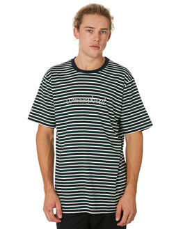GREEN NAVY WHITE MENS CLOTHING LOWER TEES - LO19Q2MTS40GNW