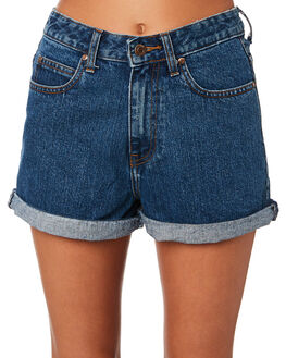 MID RETRO WOMENS CLOTHING DR DENIM SHORTS - 1610103-G18