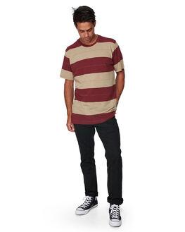 OXBLOOD RED MENS CLOTHING RVCA TEES - RV-R307051-OXR