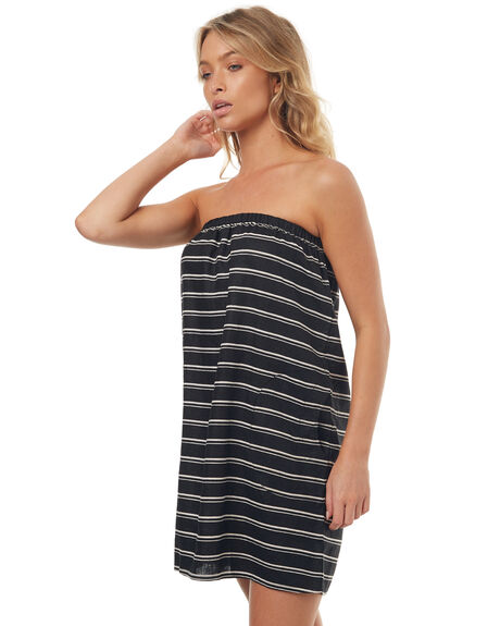 BLACK STRIPE WOMENS CLOTHING LILYA DRESSES - LND11-LSM17BLK