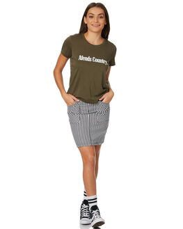 OLIVE WOMENS CLOTHING AFENDS TEES - 50-01-139OLI