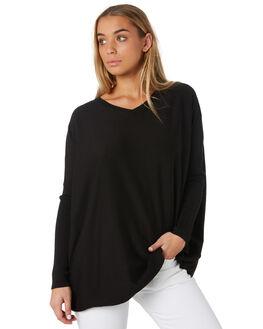 BLACK WOMENS CLOTHING BETTY BASICS KNITS + CARDIGANS - BB426W19BLK