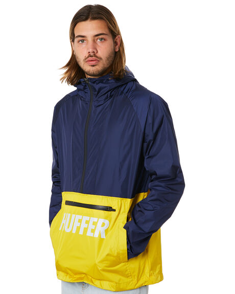NAVY YELLOW OUTLET MENS HUFFER JACKETS - MJA83S3801NYLW