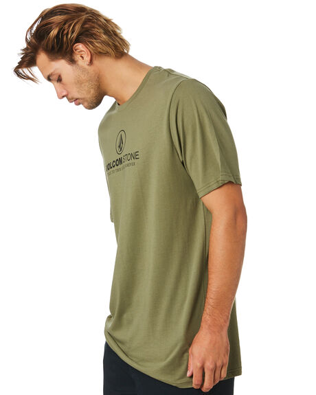 ARMY GREEN COMBO MENS CLOTHING VOLCOM TEES - A5011972ARC