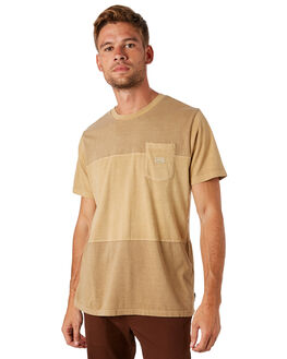 STRAW MENS CLOTHING BILLABONG TEES - 9581004STRAW