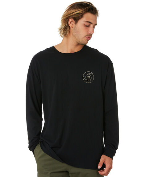 BLACK MENS CLOTHING GLOBE TEES - GB02030010BLK