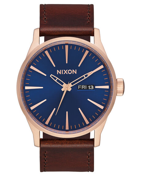 ROSE GOLD NAVY BROWN MENS ACCESSORIES NIXON WATCHES - A1052867