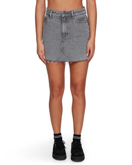 GREY STRIPE WOMENS CLOTHING RVCA SKIRTS - RV-R491833-GST