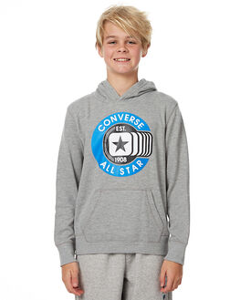 DARK GREY HEATHER KIDS BOYS CONVERSE JUMPERS - R966363042