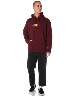 MAROON MENS CLOTHING PASS PORT JUMPERS - PPDAFFHOODMAR