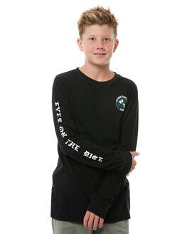 FLINT BLACK KIDS BOYS ELEMENT TEES - 386054FBLK