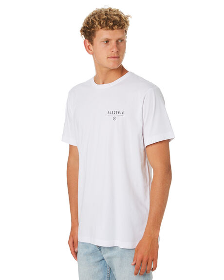 WHITE MENS CLOTHING ELECTRIC TEES - EC-01-48-09WHT