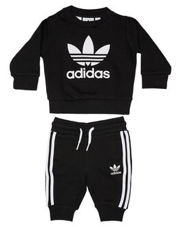 BLACK WHITE KIDS BABY ADIDAS CLOTHING - ED7679BLKWT