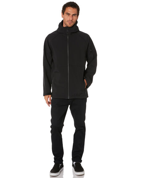 BLACK MENS CLOTHING MR SIMPLE JACKETS - M-09-42-01BLK