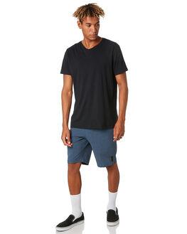 NAVY MARLE MENS CLOTHING DEPACTUS SHORTS - D5182235NVYMA