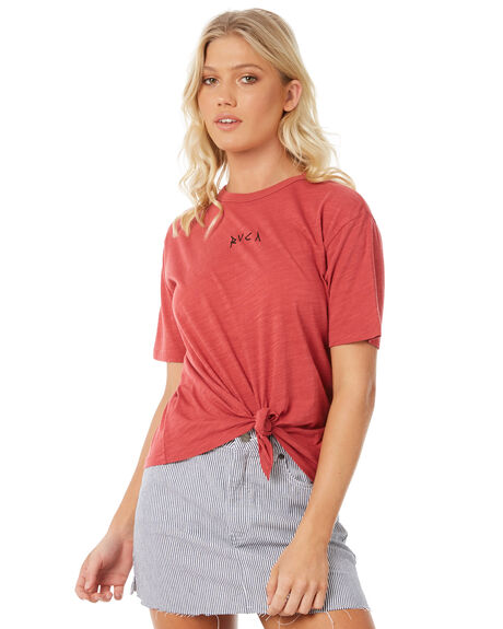GARNET WOMENS CLOTHING RVCA TEES - R281694GAR