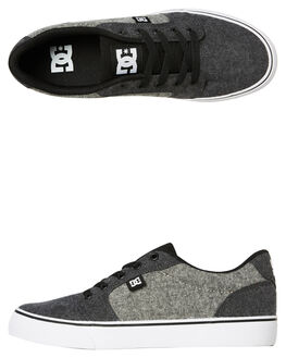CHARCOAL MENS FOOTWEAR DC SHOES SNEAKERS - ADYS300036CHH