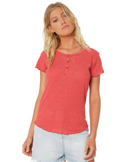 RED WOMENS CLOTHING ALL ABOUT EVE TEES - 6405074RED