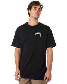 BLACK MENS CLOTHING STUSSY TEES - ST092002BLK