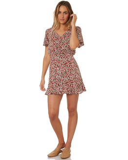 RED WOMENS CLOTHING TROUBLE LOVES COMPANY DRESSES - T8188444RED