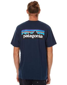 NAVY BLUE MENS CLOTHING PATAGONIA TEES - 38906NVYB