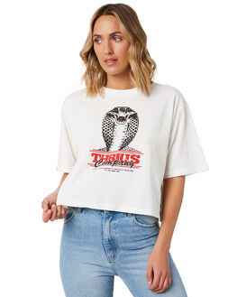 DIRTY WHITE WOMENS CLOTHING THRILLS TEES - WTA20-108ADWHT
