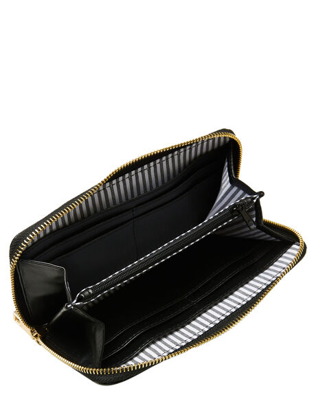 BLACK WOMENS ACCESSORIES RUSTY PURSES + WALLETS - WAL0822BLK