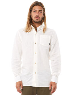 DIRTY WHITE MENS CLOTHING THRILLS SHIRTS - TH8-206ADWHT