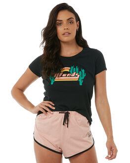 FADED BLACK WOMENS CLOTHING AFENDS TEES - W181016FBLK