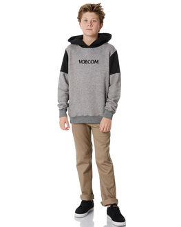 GREY KIDS BOYS VOLCOM JUMPERS + JACKETS - C4131812GRY