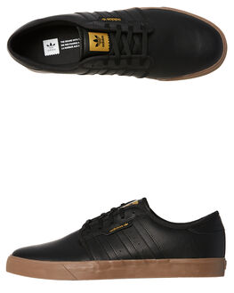 BLACK GUM MENS FOOTWEAR ADIDAS ORIGINALS SKATE SHOES - CQ1180BKGM