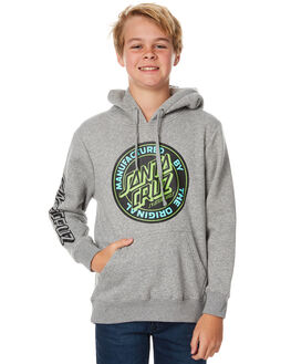 GREY KIDS BOYS SANTA CRUZ JUMPERS - SC-YFC7038GRY