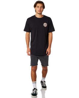 BLACK MENS CLOTHING SANTA CRUZ TEES - SC-MTD8010BLK