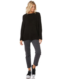 BLACK WOMENS CLOTHING SILENT THEORY KNITS + CARDIGANS - 6010042BLK