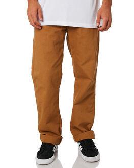 RINSED DUCK BROWN MENS CLOTHING DICKIES PANTS - 1939RBD
