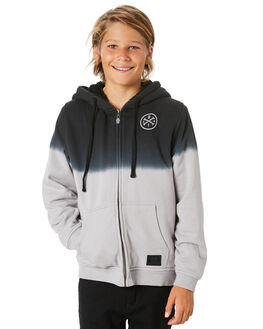 BLACK GREY DIP KIDS BOYS ALPHABET SOUP JUMPERS + JACKETS - AS-KFA8381BBKGRD