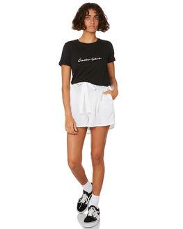 BLACK WOMENS CLOTHING COOLS CLUB TEES - 114-CW1BLK